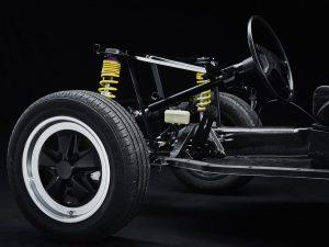 Murschel Electric Cars - Oldtimer Restauration Nachher - Entlackt - KTL beschichtet - Hohlraumversiegelung mit Hochleistungsfahrwerk und Renngetrieb